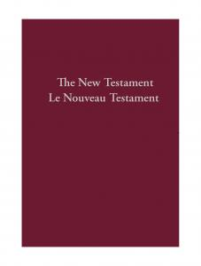 French - English New Testamament - Print on Demand