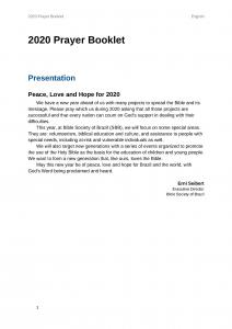 2020 UBS Prayer Booklet - English