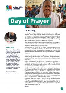 UBS Day of Prayer 2020 Resources