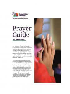 UBS Day of Prayer Guide 2021