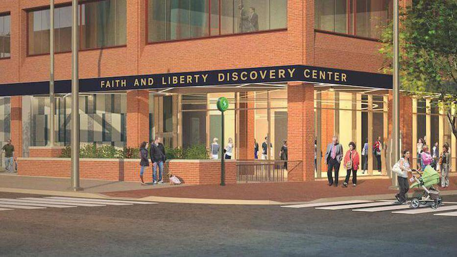 Rendering of Faith and Liberty Discovery Center building